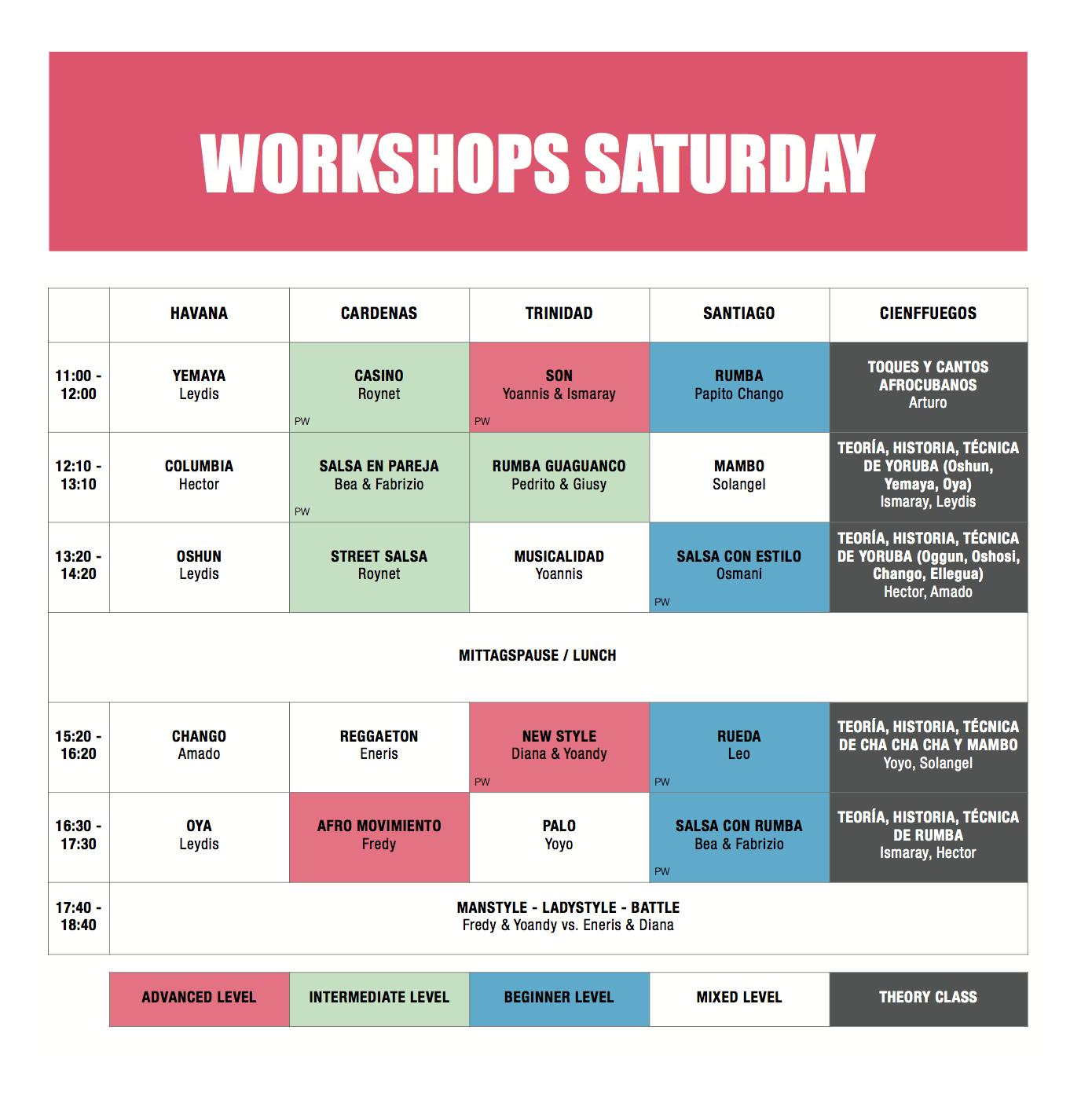 Workshops Friday & Saturday